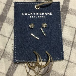 Lucky Brand 3-Pair Boho Earring Set